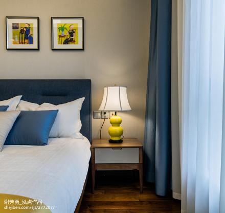 2018精选面积120平中式四居卧室装饰图卧室