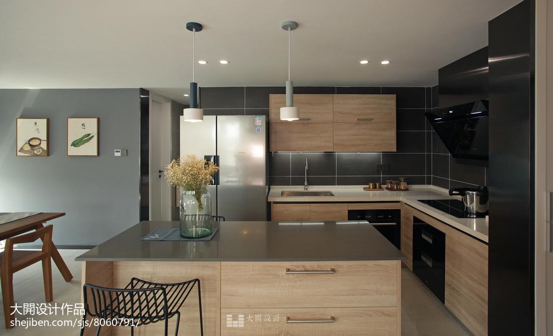 精选122平米日式复式厨房实景图片餐厅日式厨房设计图片赏析