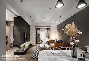 精选76平米简约小户型客厅效果图