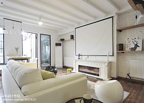 混搭风格二居客厅设计图