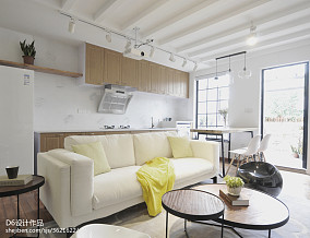 混搭风格二居客厅沙发设计图