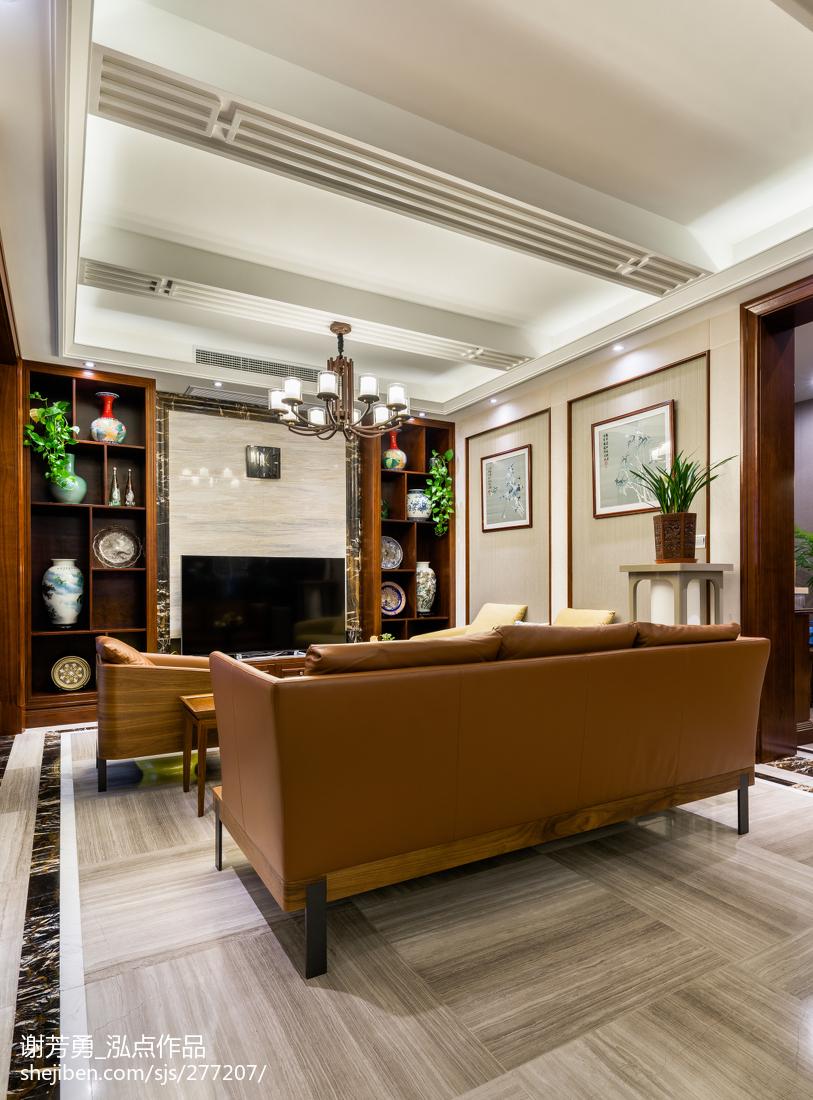 新中式别墅吊顶设计图客厅中式现代客厅设计图片赏析
