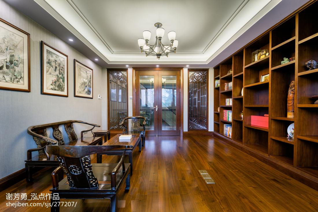 新中式别墅书房设计图功能区中式现代功能区设计图片赏析