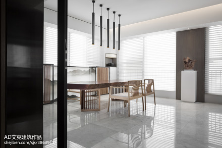 2018中式复式休闲区效果图片复式中式现代家装装修案例效果图