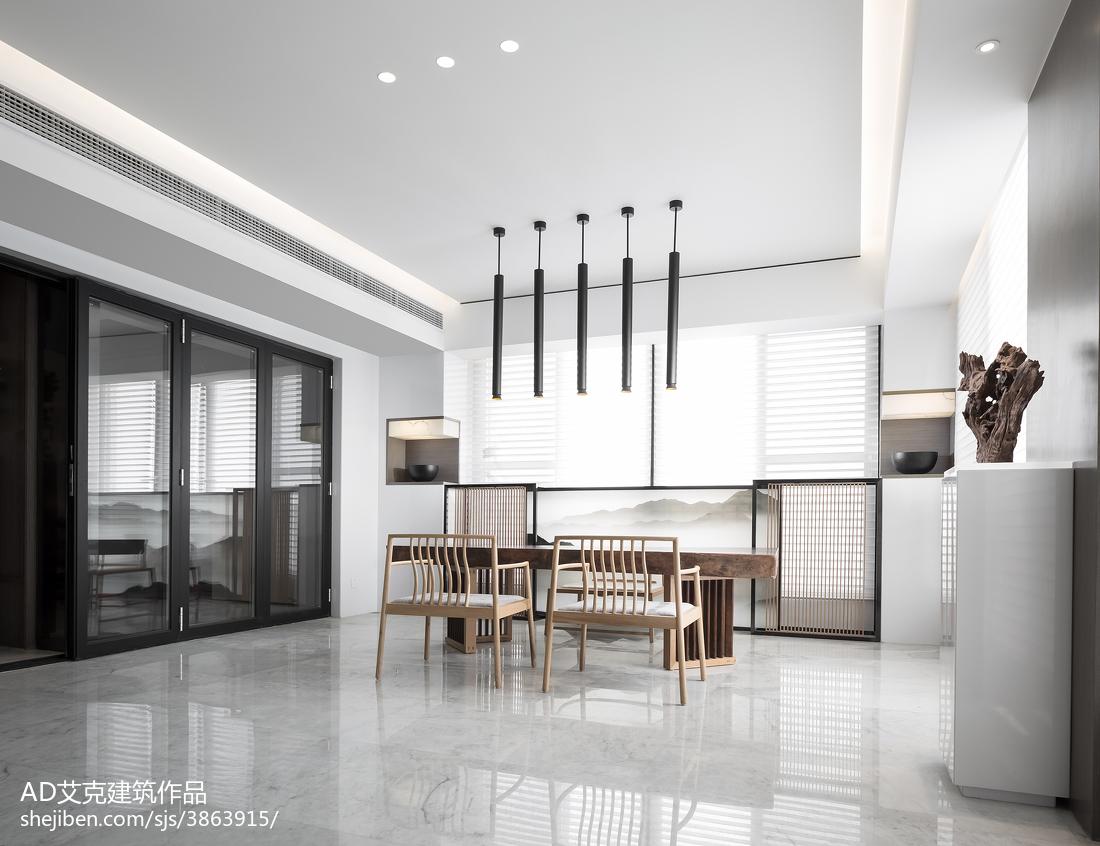 热门面积137平复式休闲区中式欣赏图片厨房中式现代餐厅设计图片赏析