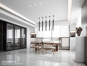 热门面积137平复式休闲区中式欣赏图片复式中式现代家装装修案例效果图