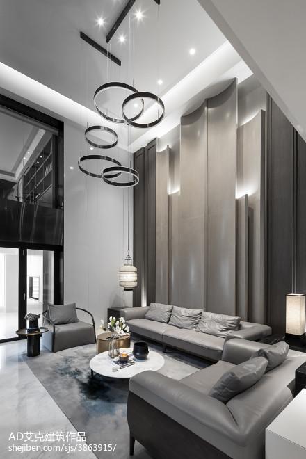 2018精选135平米中式复式客厅装修欣赏图片大全客厅