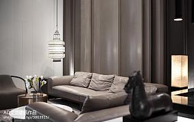 平米中式复式客厅欣赏图复式中式现代家装装修案例效果图