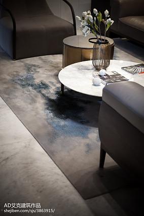 面积122平复式客厅中式实景图片欣赏复式中式现代家装装修案例效果图