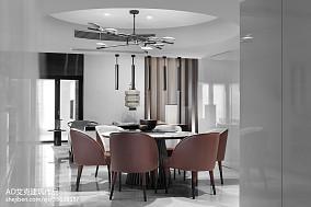 精美116平米中式复式餐厅装修设计效果图片欣赏复式中式现代家装装修案例效果图
