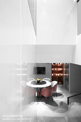 2018面积129平复式餐厅中式装修效果图复式中式现代家装装修案例效果图