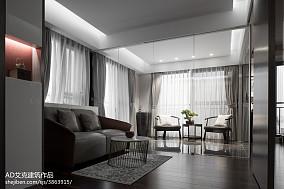 热门面积126平复式客厅中式装饰图片复式中式现代家装装修案例效果图