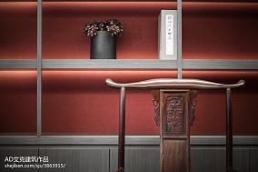 精选136平米中式复式卧室装修实景图片复式中式现代家装装修案例效果图