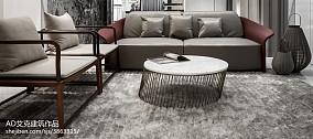 面积116平复式卧室中式装修设计效果图片欣赏复式中式现代家装装修案例效果图