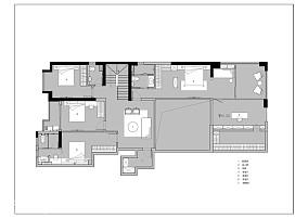 轻奢79平中式复式效果图欣赏复式中式现代家装装修案例效果图
