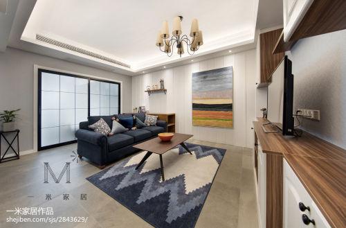 2018精选97平米三居客厅美式装修图片欣赏客厅沙发
