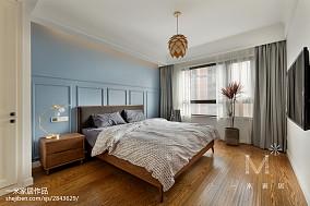 热门面积100平北欧三居卧室实景图片欣赏三居北欧极简家装装修案例效果图