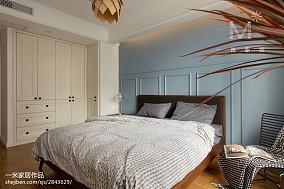 精选面积96平北欧三居卧室效果图片欣赏三居北欧极简家装装修案例效果图