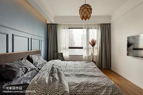 热门96平米三居卧室北欧装修设计效果图三居北欧极简家装装修案例效果图