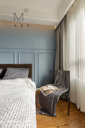 热门面积92平北欧三居卧室装修实景图片欣赏三居北欧极简家装装修案例效果图