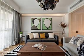 精选97平米三居客厅北欧装修设计效果图片三居北欧极简家装装修案例效果图