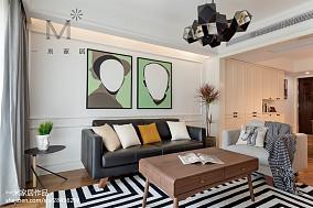 2018面积104平北欧三居客厅实景图片大全三居北欧极简家装装修案例效果图