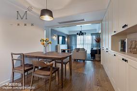 2018精选面积103平北欧三居餐厅实景图片三居北欧极简家装装修案例效果图