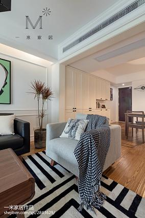 2018面积91平北欧三居客厅装修设计效果图片欣赏三居北欧极简家装装修案例效果图