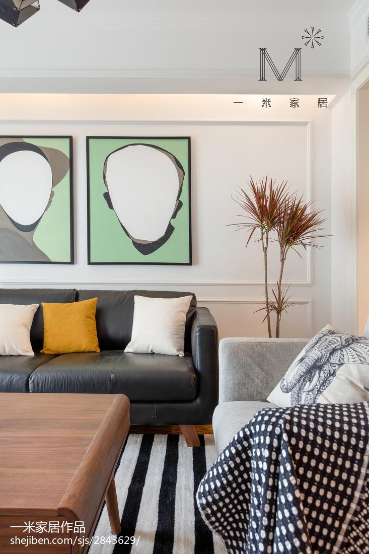 2018面积97平北欧三居客厅装修欣赏图片大全客厅