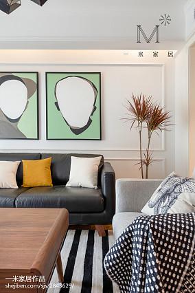 2018面积97平北欧三居客厅装修欣赏图片大全三居北欧极简家装装修案例效果图