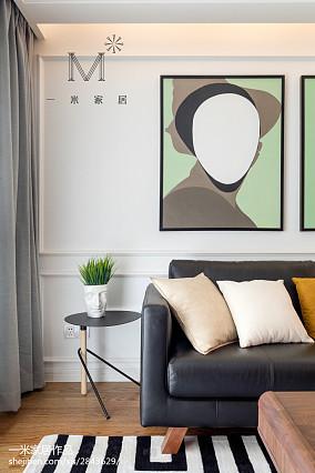 平北欧三居客厅装潢图三居北欧极简家装装修案例效果图