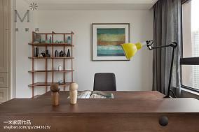 2018精选面积107平北欧三居书房装修效果图片欣赏三居北欧极简家装装修案例效果图