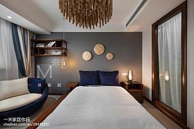 精美中式四居卧室装修效果图四居及以上中式现代家装装修案例效果图