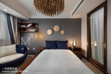 精美中式四居卧室装修效果图