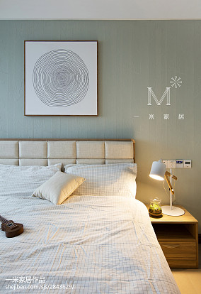 2018面积137平中式四居卧室装修实景图片四居及以上中式现代家装装修案例效果图