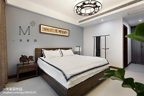 165m²新中式主卧室设计图卧室中式现代卧室设计图片赏析