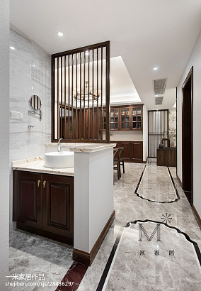 165m²新中式卫浴设计图片中式现代设计图片赏析
