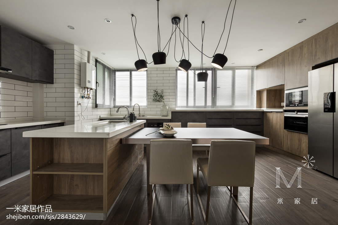 大气180平现代四居餐厅装修设计图现代简约设计图片赏析