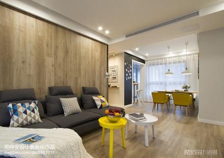 简单北欧风格客厅小圆桌设计