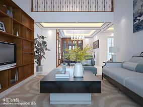 2018面积70平中式二居客厅装修图片欣赏