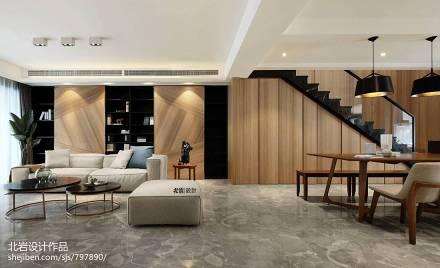 质朴49平现代复式客厅设计案例