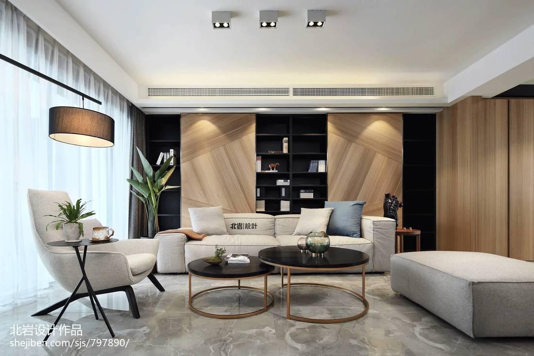 简单四居混搭客厅沙发摆放设计图客厅窗帘现代简约客厅设计图片赏析