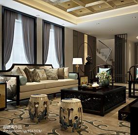 热门中式别墅客厅装修图片