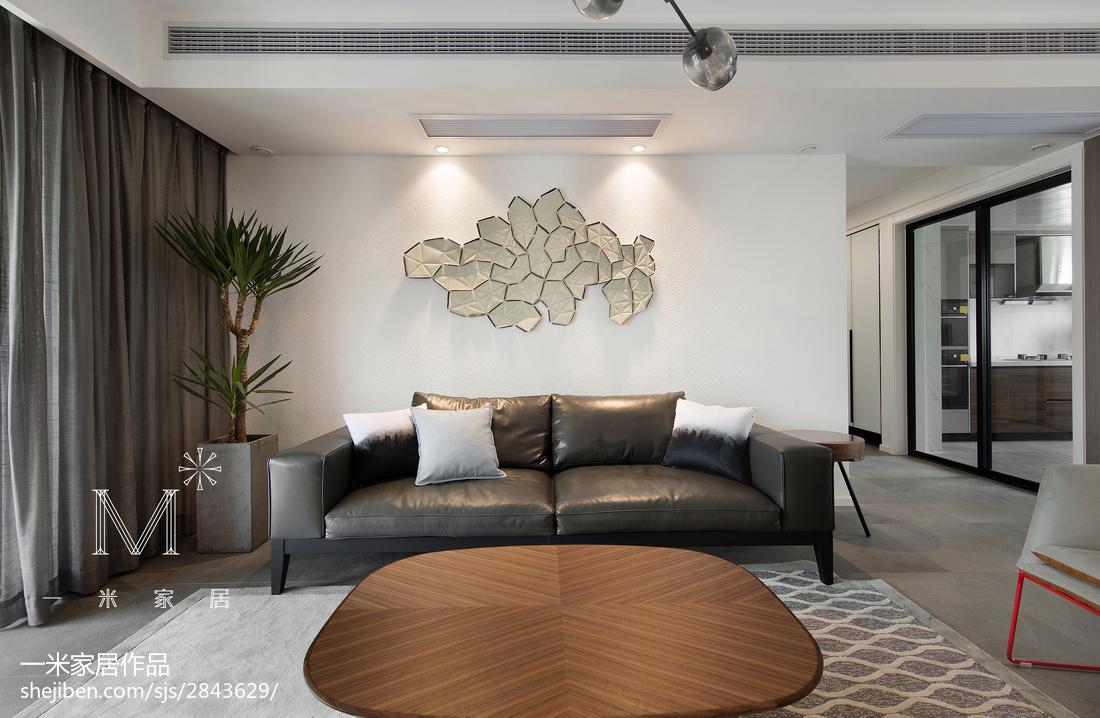 热门面积90平现代三居客厅效果图片欣赏客厅2图
