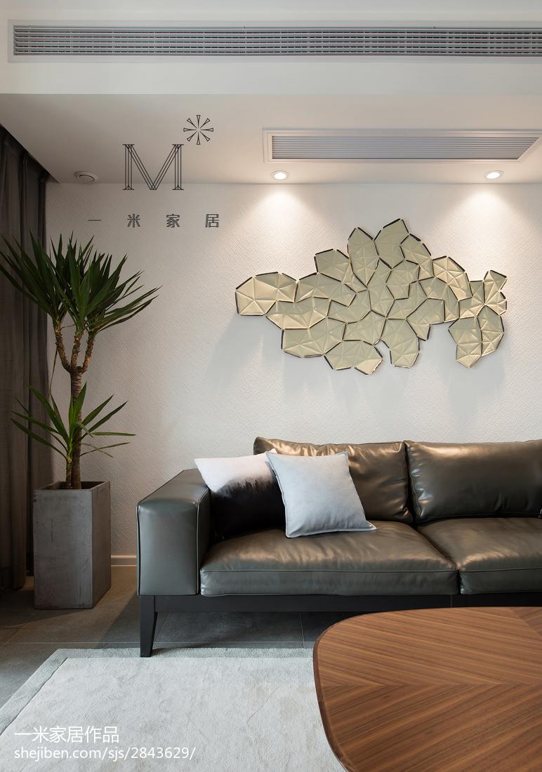 热门90平米三居客厅现代装修设计效果图客厅
