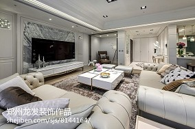 精选90平方三居客厅简欧装修实景图