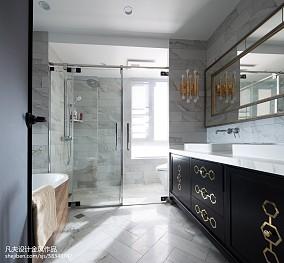 面积140平混搭四居卫生间装修实景图片大全卫生间1图潮流混搭设计图片赏析
