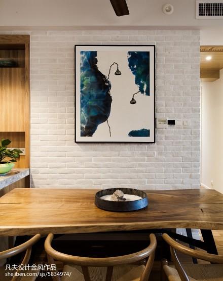 精美面积93平中式三居餐厅效果图片厨房