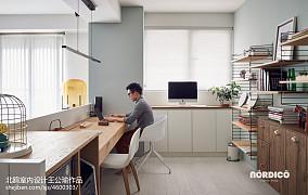 优雅124平北欧四居书房设计效果图四居及以上北欧极简家装装修案例效果图