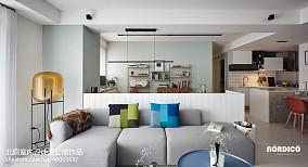 质朴107平北欧四居客厅效果图四居及以上北欧极简家装装修案例效果图